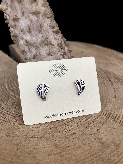 Twin Leaves Stud Earrings - WHOLESALE