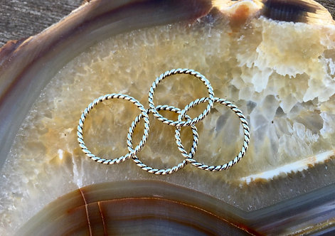 Silver Twisted Stacker Ring