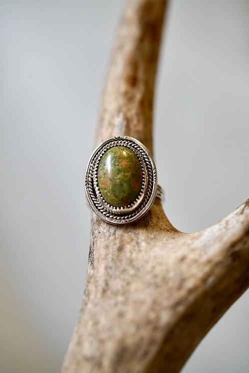 Layered Unakite Ring