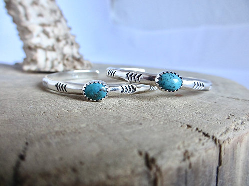Arrow Stamped Turquoise Cuff