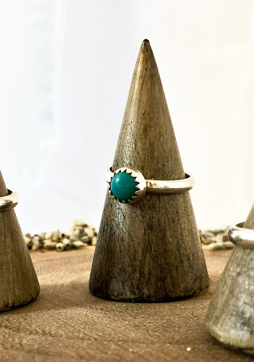 Single Stud Turquoise Ring