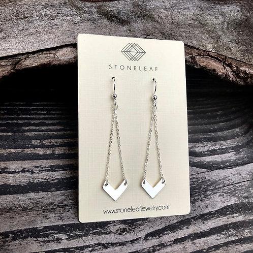 Chevron Drop Earrings