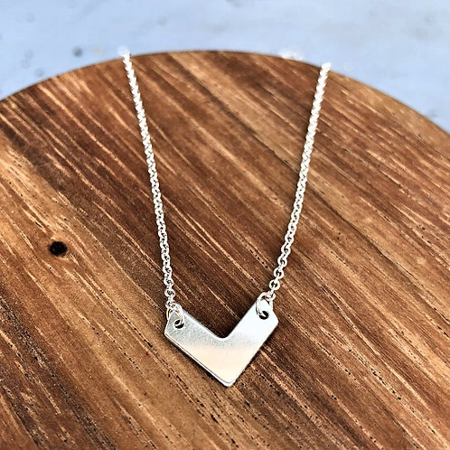Single Sterling Silver Chevron Necklace