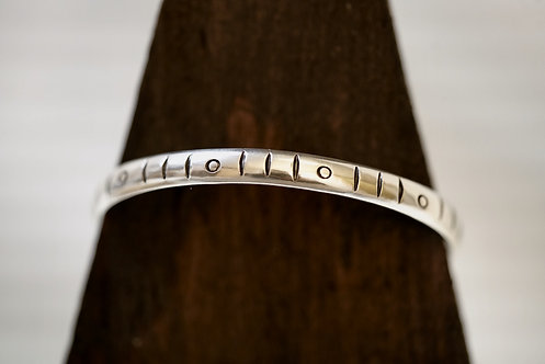 Dash n' Dot Stamped Bangle - WHOLESALE