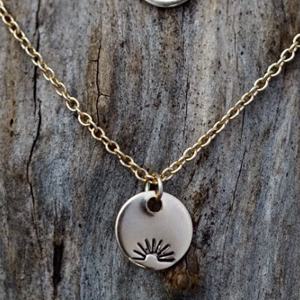 Sunset Gold Medallion Necklace