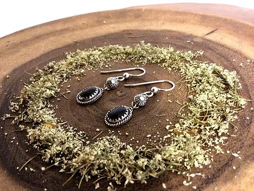 Onyx Sun Earrings