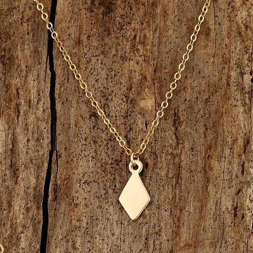 Single Gold Diamond Necklace - WHOLESALE