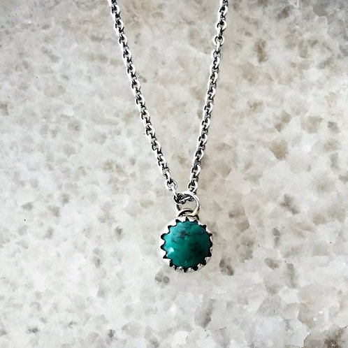 Turquoise Single Stud Necklace