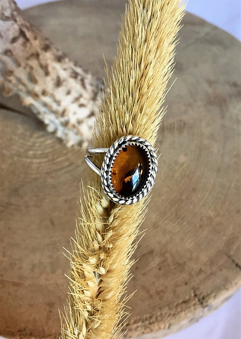 Amber Twist Ring