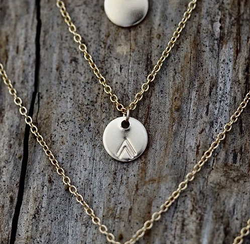 2 Mountains Gold Medallion Necklace - WHOLESALE