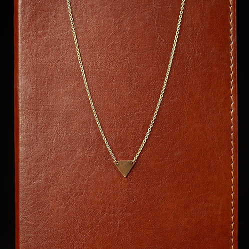 Single Gold Triangle Necklace