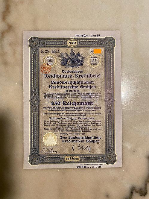 850 Reichsmark Bond, 1930