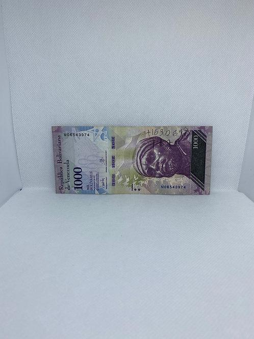 Banco Central de Venezuela, $1,000 Bolivares, 2017