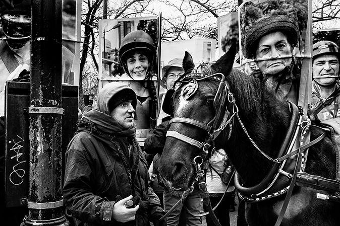 Paul Kessel Street Rally for Venezuela Photography
