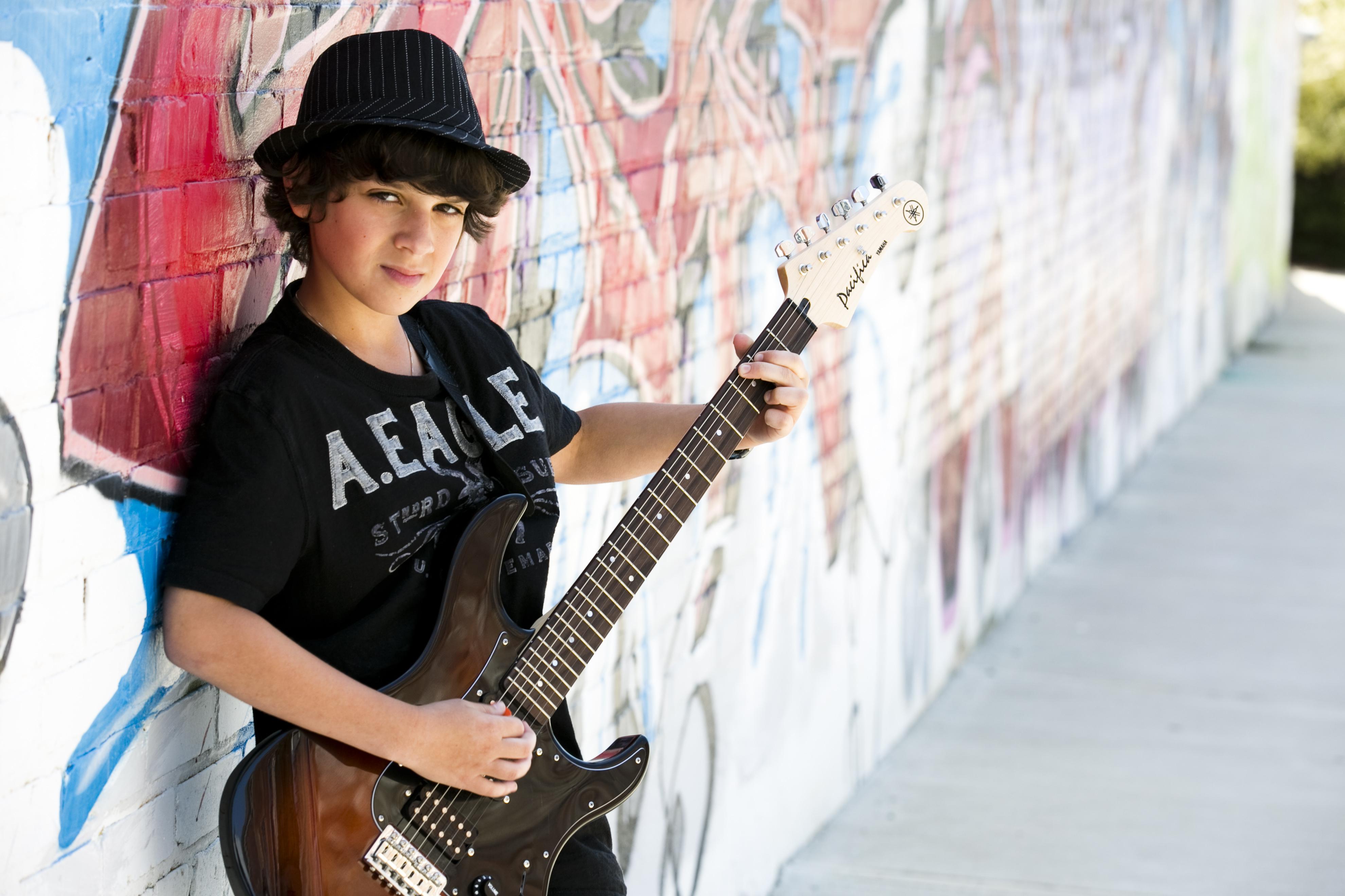 Bar Mitzvah Portrait Atlanta Urban Photography Boy and Guitar