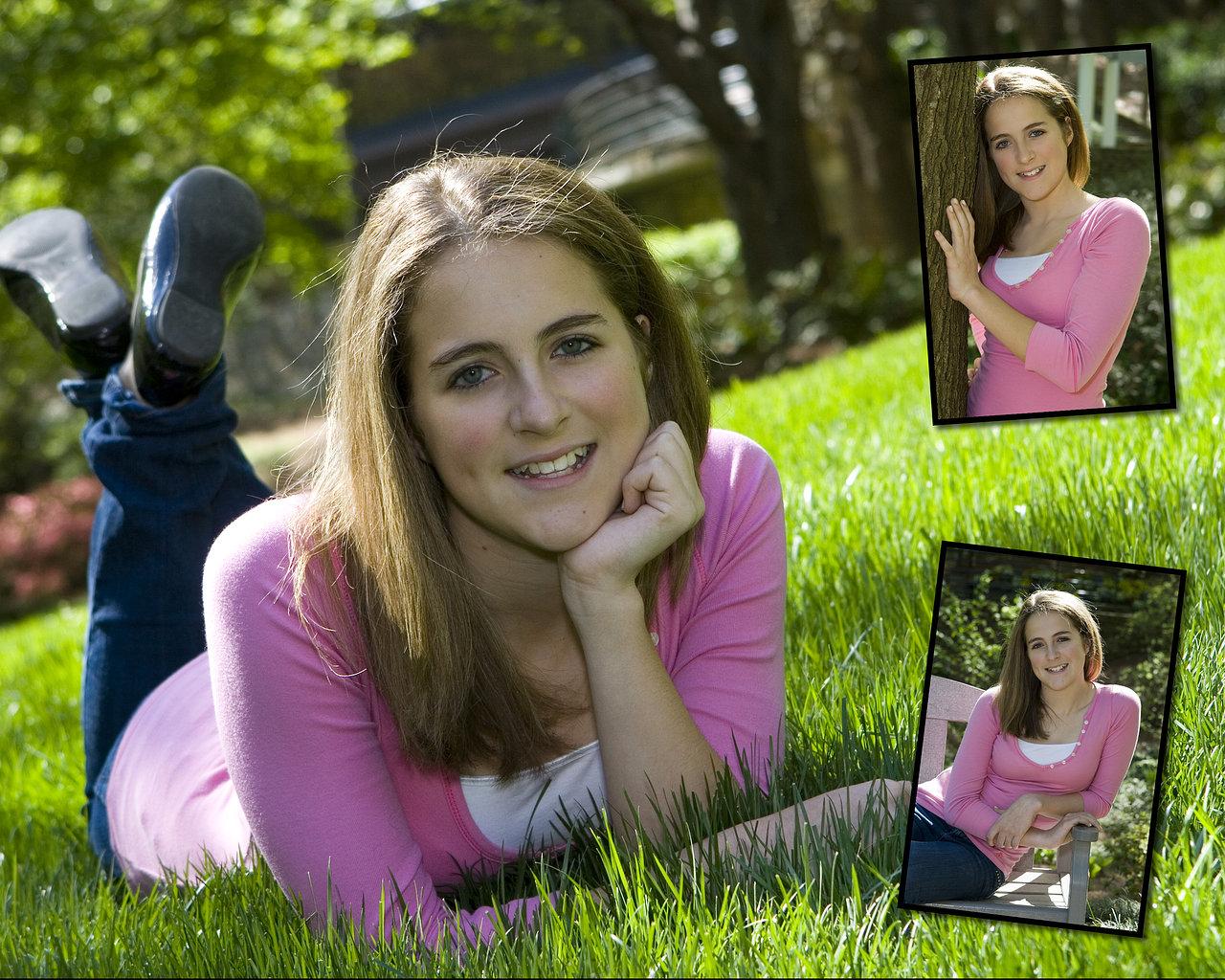 Bat Mitzvah Portrait Atlanta Dunwoody Girl in Grass