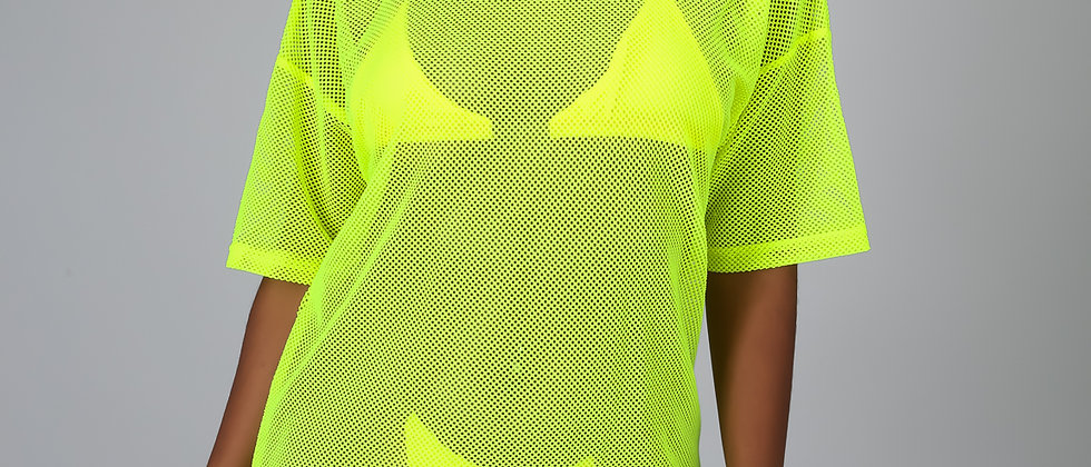 Lime Net Cover Up