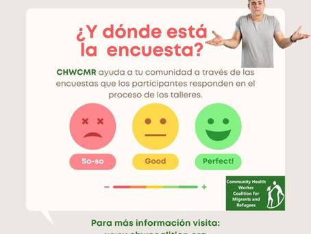 ¿Cuál es la importancia de las encuentas para CHWCMR?