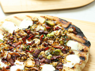 Grilled Brussels Sprouts Pizza