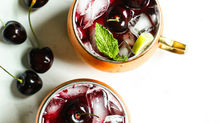 Fresh Cherry Cocktails: Cherry Lemon Spritzer and Cherry Moscow Mule