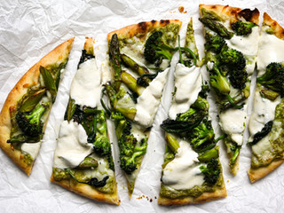 Spring Onion Pesto Flatbreads