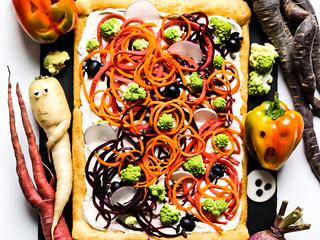 Vegetable Graveyard Pizza