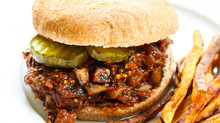 Meatless Sloppy Joes + Sweet Potato Fries