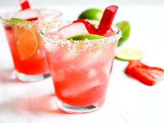 Rhubarb Margaritas