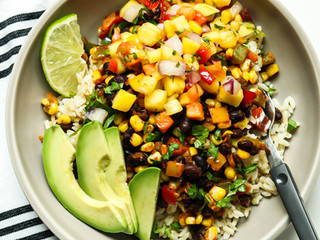 Tropical Black Bean Rice Bowls