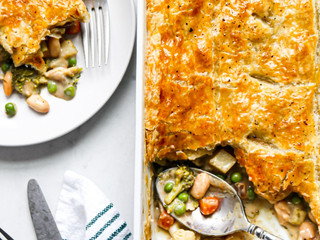 Hearty Vegetable and White Bean Pot Pie