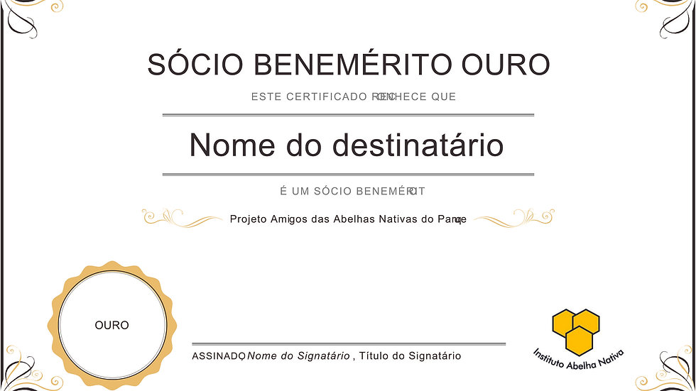 Sócio Benemérito - OURO