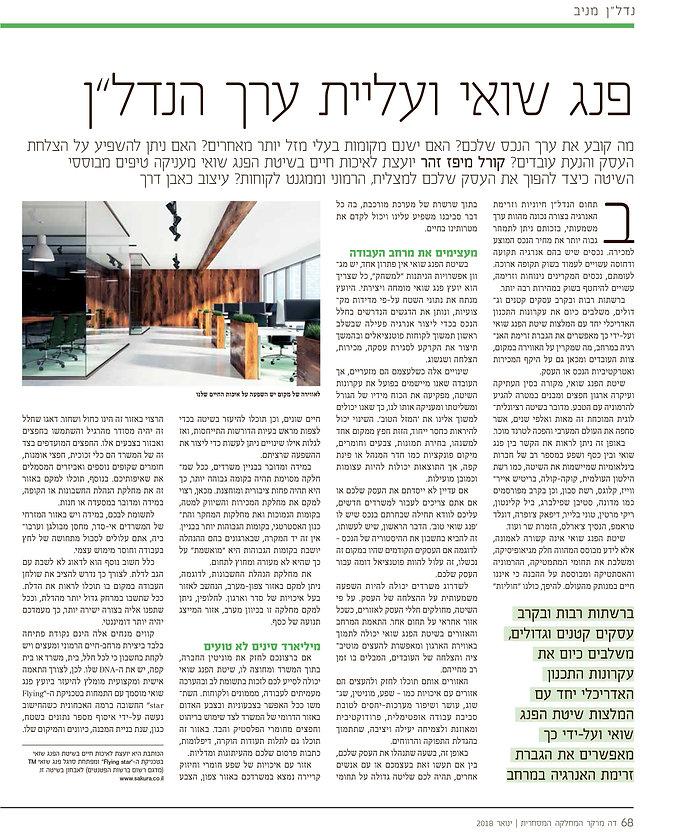דה מרקר, מגזין נדלן 30.01.18 - פנג שואי