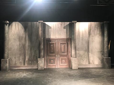 """Adams Family"" Theatre Set Construction"