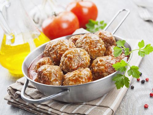 Uncooked Italian Style Jumbo Meatballs