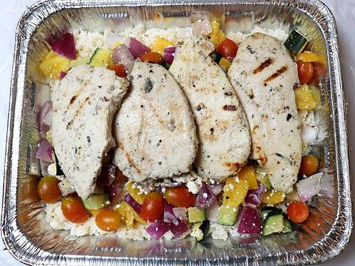 Fresh Mediterranean Chicken Dinner