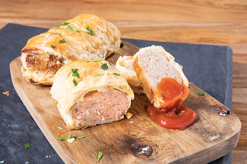 Baked All Beef Sausage Rolls 4 pack