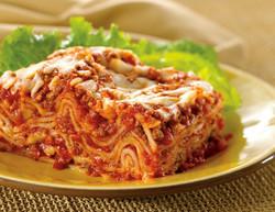 Lasagna Bolognese with Three Cheeses