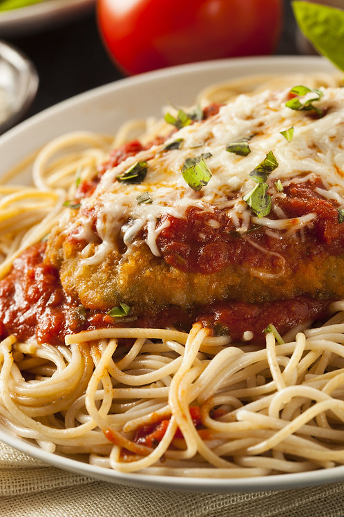 Chicken Parmiggiana with Linguine