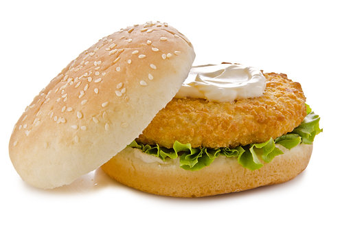 Fully Cooked Breaded Chicken Breast Burgers
