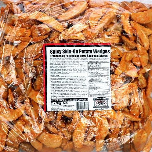 Spicy Skin-On Potato Wedges
