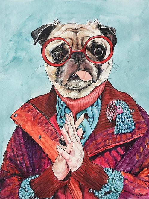 Iris Apfel as a Pug!