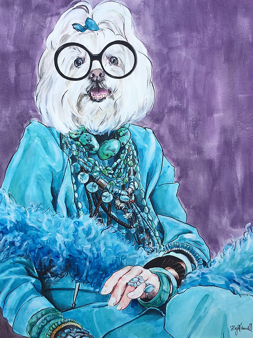 Iris Apfel as a Maltese!
