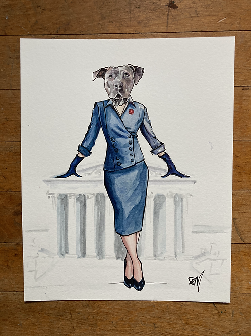 Ruth Bader  Ginsburg as a strong female Pit