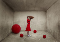 Balloons in a concrete room.jpg