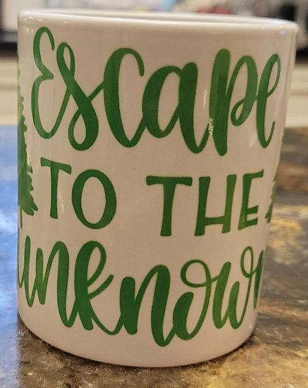 Escape To The Unknown Mug