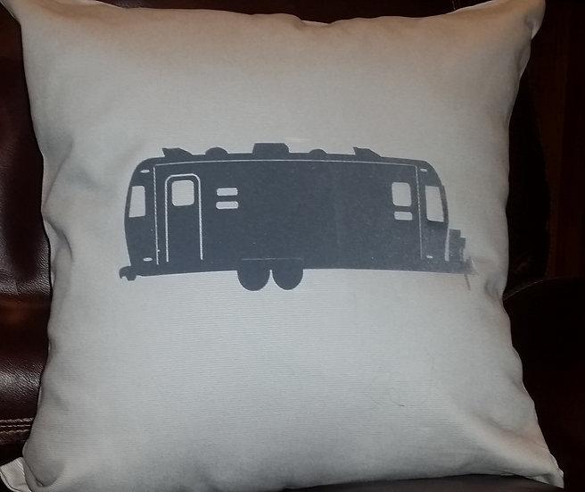 Gray Airstream Pillow
