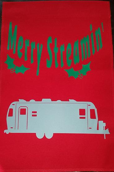 Merry Streamin' Garden or Camping Flag