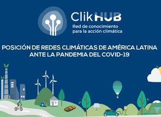 OPINION: Clik Hub se pronuncia ante la pandemia del COVID-19 y la crisis climática