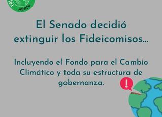 Desaparecen Fideicomiso para Cambio Climático, a pesar del llamado de organizaciones ambientalistas