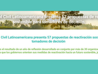 La Sociedad Civil Latinoamericana presenta 57 propuestas de reactivación sostenible